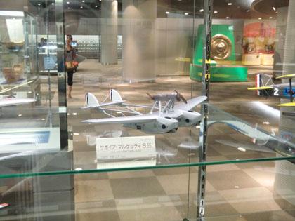 広島市交通科学館 飛行機模型 サボイア・マルケッティ S.55