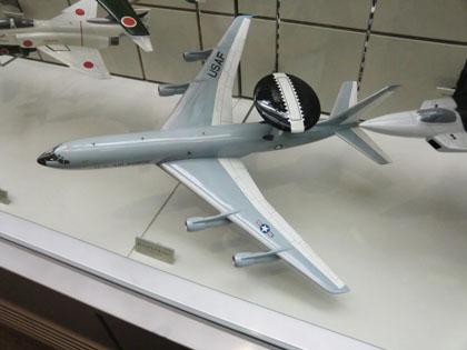 広島市交通科学館 飛行機模型 ボーイング E-3 セントリー