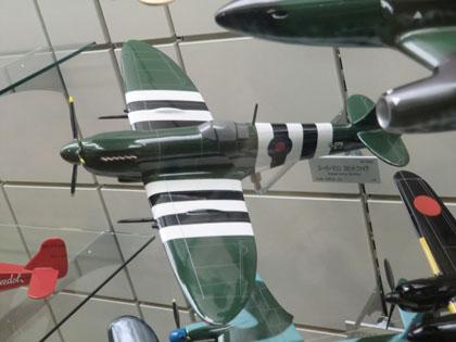 広島市交通科学館 飛行機模型 スーパーマリン スピットファイア