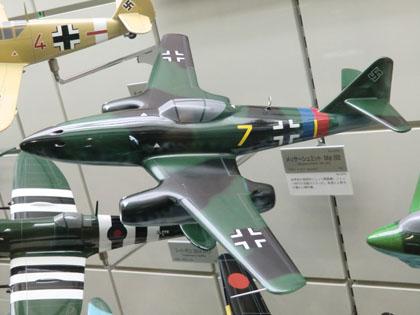 広島市交通科学館 飛行機模型 メッサーシュミット Me 262