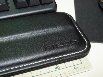 FILCO キーボード用パームレスト レザーパームレストMサイズ(36.8cm) 本牛革製 ブラック FKBPRM/B