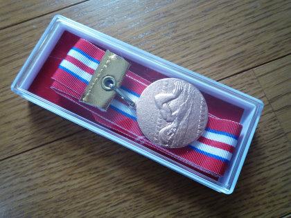 水泳記録会メダル
