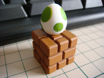 チョコエッグ ニュー・スーパーマリオブラザーズ・Wii セレクション S3 レンガブロック&タマゴ