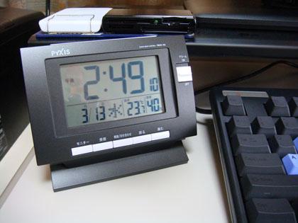 ピクシス 電波デジタル置き時計 ツイン・パ 温度表示・湿度表示 ブラック BC149K