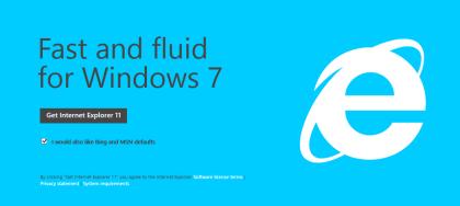 Windows 7版 Internet Explorer 11