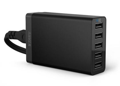 Anker 25W 5ポート USB急速充電器 ACアダプタ ブラック