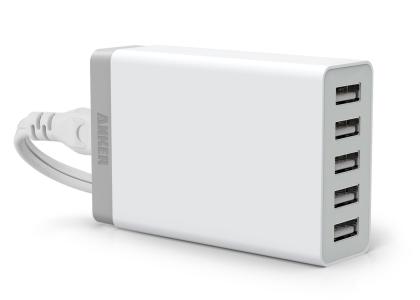 Anker 25W 5ポート USB急速充電器 ACアダプタ ホワイト