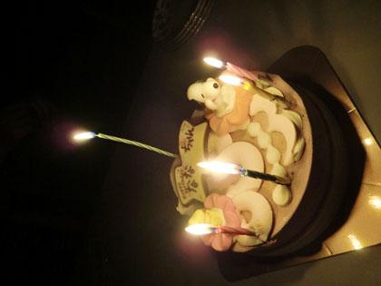 長女14歳バースデーケーキ