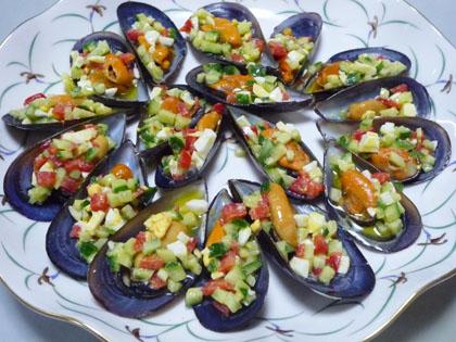 ムール貝のヴィネグレットソール