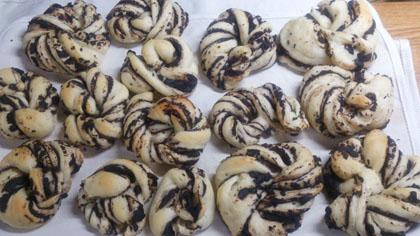 手作りチョコレートマーブルパン
