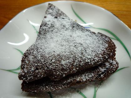 手作りチョコレートケーキ