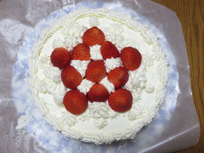 奥さん手作りクリスマスケーキ