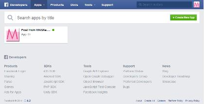 Facebook Developers Appsページ