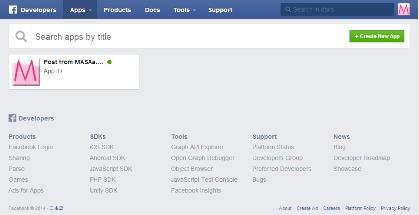 Facebook Developers Appsページ