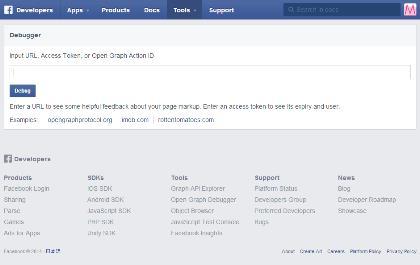 Facebook-Debuggerのページ