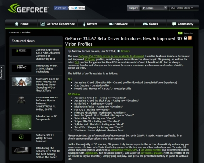 NVIDIA GeForce 334.67 Beta Driver