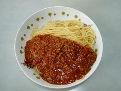 ミートソース作り ミートスパゲッティ