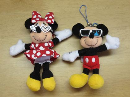 ミッキー&ミニーキーホルダー