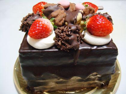 ボストン チョコレートバースディケーキ