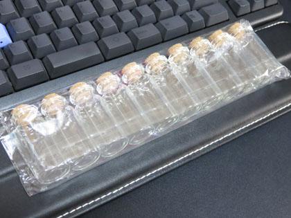 コルク付きガラス製ミニチュアボトル10本セット