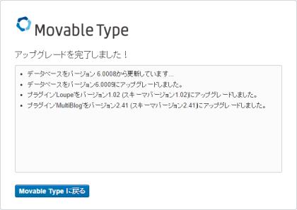 Movable Type 6.0.4 アップグレード完了!