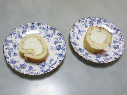 手作りロールケーキ