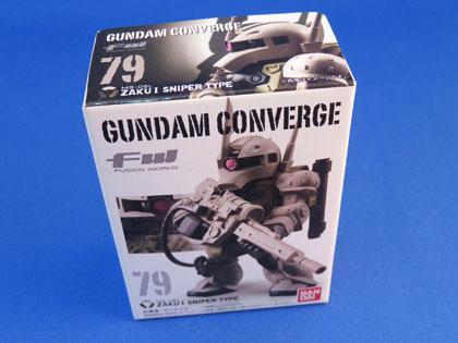 FW GUNDAM CONVERGE No.79 MS-05L ZAKU I SNIPER TYPE
