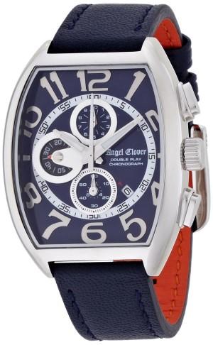 エンジェルクローバー 腕時計 ダブルプレイ アーバンブルー・コレクション ネイビー文字盤 カーフ革ベルト クロノグラフ DP38SNVNV メンズ