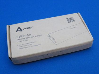 Aukey AIPower モバイルバッテリー 3600mAh PB-N26 仕様変更後