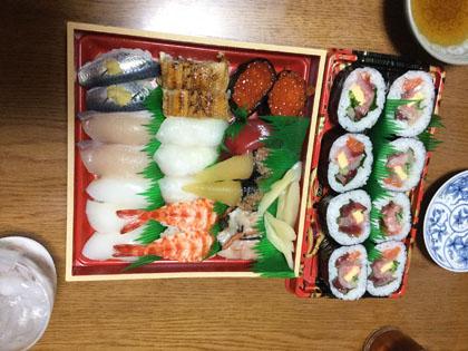 次女11歳の誕生日 お寿司と天ぷら