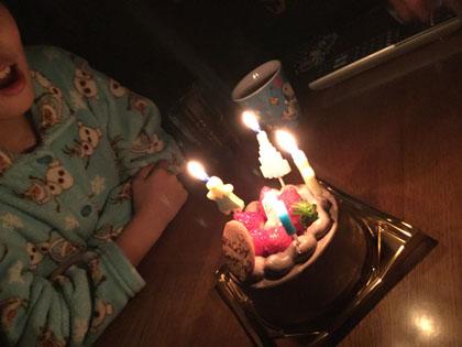 次女11歳のバースディケーキ