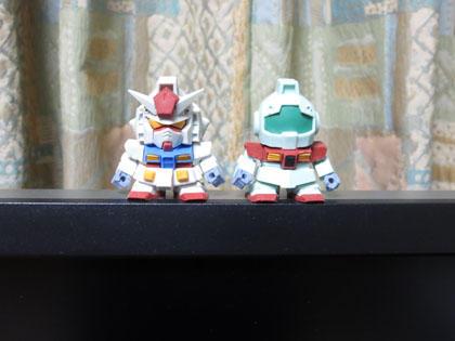 ビルドモデル ガンダムシリーズのガンダムとジム