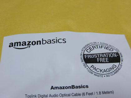 Amazonベーシック トスリンク デジタルオーディオ オプティカルケーブル 1.8m