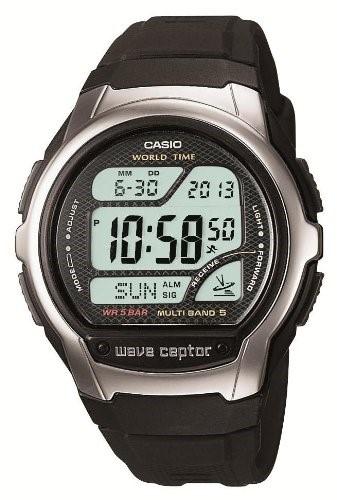 カシオ 腕時計 ウェーブセプター 電波時計 デジタルモデル WV-58J-1AJF