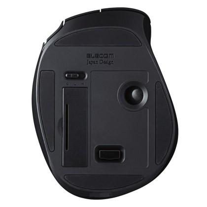 エレコム ワイヤレストラックボール 5ボタン チルト機能 握りの極み ブラック M-XT1DRBK