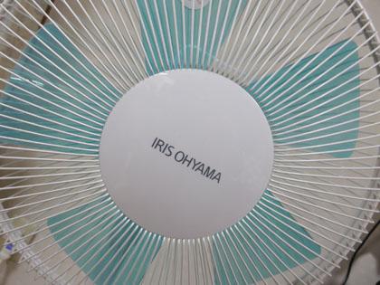 アイリスオーヤマ リビング扇風機 ホワイト/ブルー EFB-32-W/A