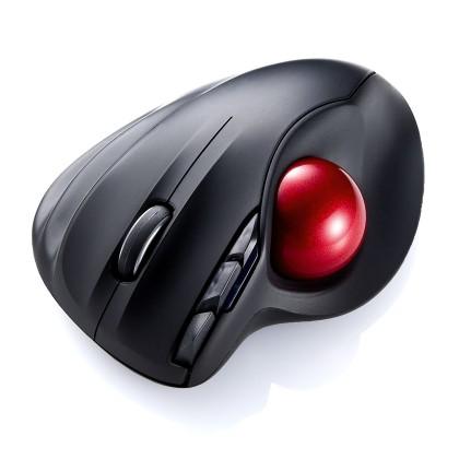 サンワダイレクト ワイヤレスレーザートラックボール ブラック 400-MA061BK