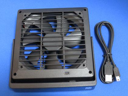 シグマA.P.Oシステム販売 USBどこでもでか扇風機 ブラック UMF02BK