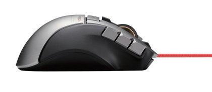 エレコム MMOゲーミングマウス 有線 19ボタン ダブルホイール 2PC同時操作対応 6400dpi ブラック M-DUX71BK