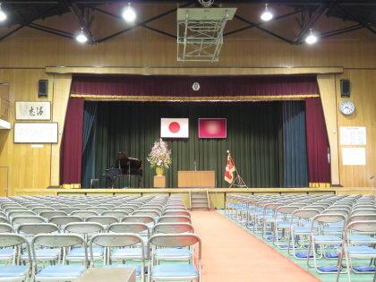 長女の中学卒業式