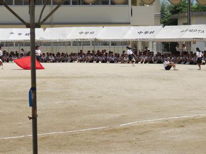 次女の中学の体育祭