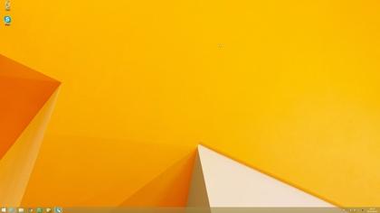 Windows 8.1 Pro アップグレード Windows 8.1デスクトップ画面